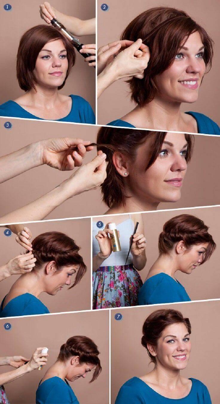 Как укладывать короткие волосы феном: салонная укладка дома за 5 минут
