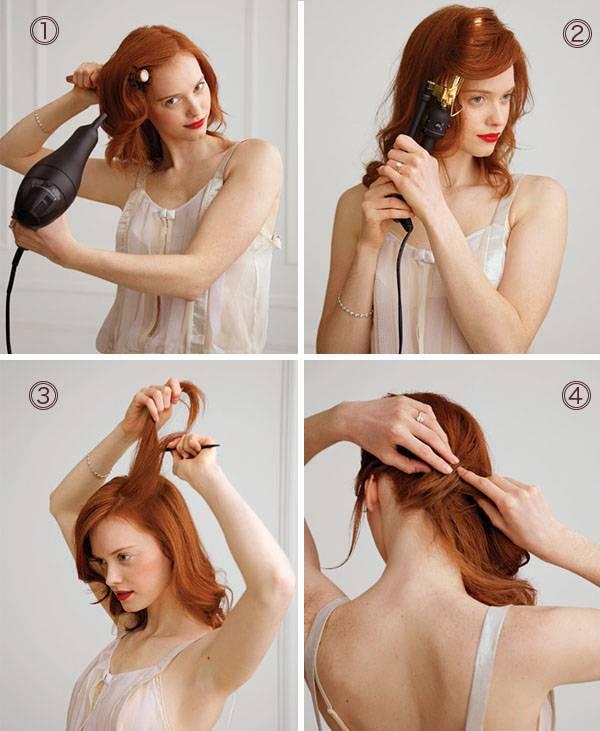 Прически на длинные средние и короткие волосы своими руками
