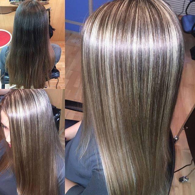 Мелирование на темные волосы, красное, венецианское, калифорнийское мелирование на темные волосы, фото