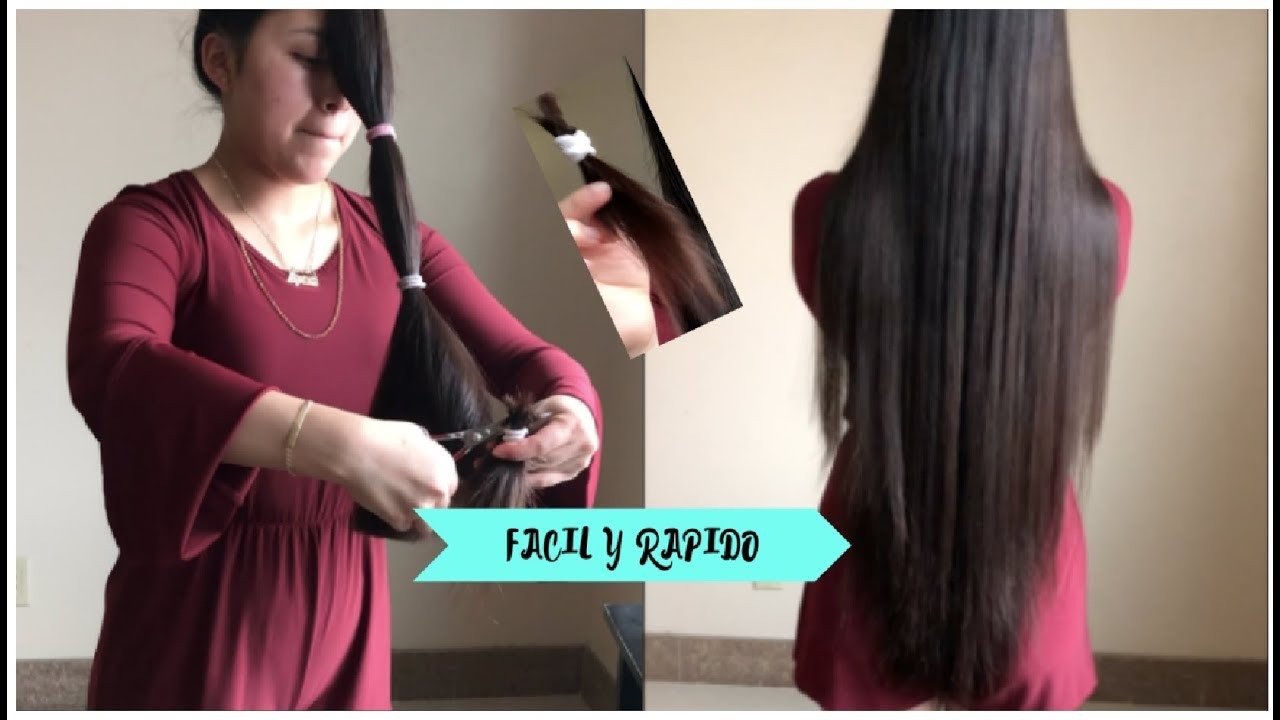 Как подстричь себе волосы лесенкой, ровно сзади в домашних условиях. фото