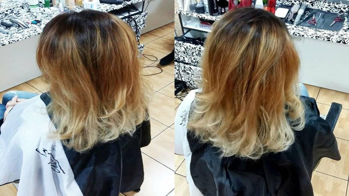 Окрашивание волос в стиле балаяж на короткие, средние, длинные, русые и темные волосы. как делать самой в домашних условиях. кому подходит. фото