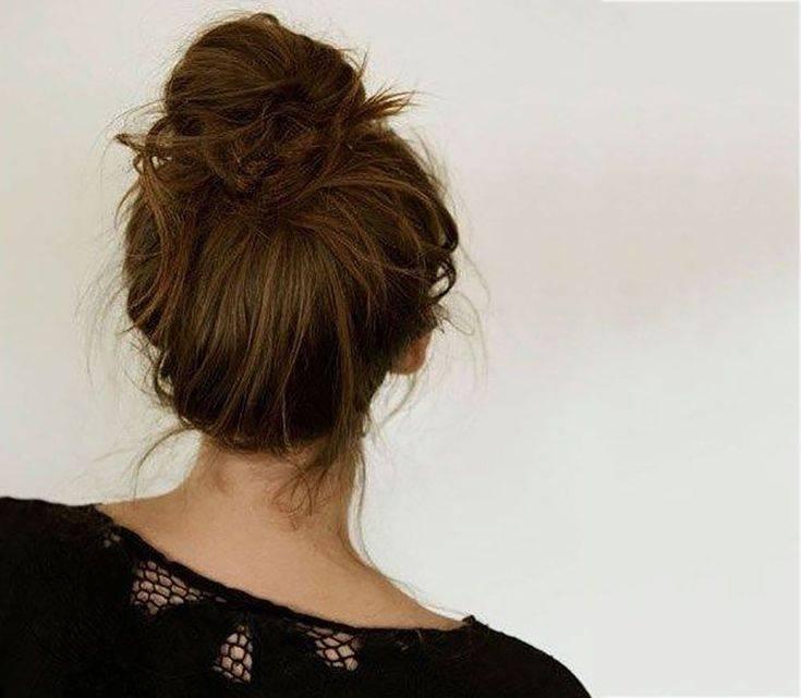 Стильный пучок из волос: как сделать с помощью бублика