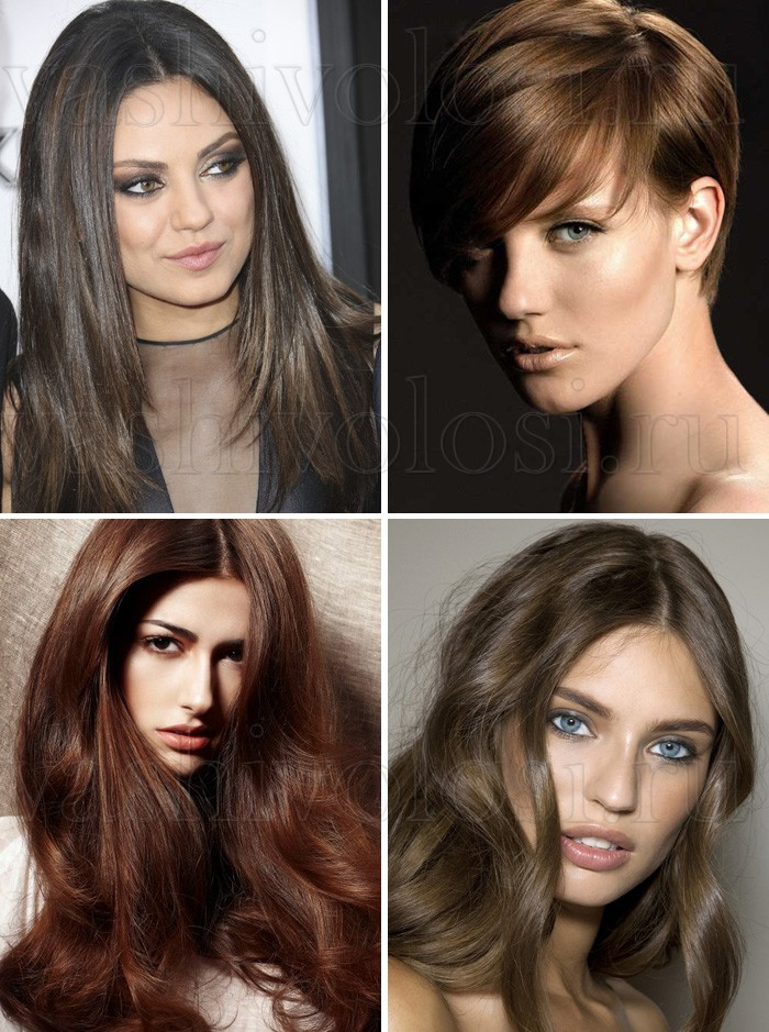 Цвет холодный каштан – оттенки краски для волос