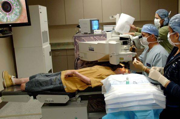 Один из видов лазерной операции