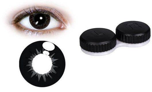 Черная контактная линза