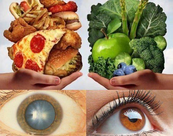 Влияние питания на глаза