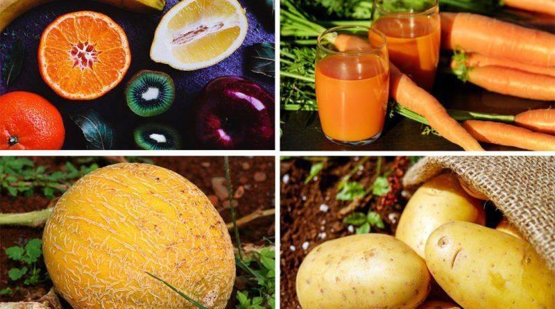 Разные полезные для глаз продукты