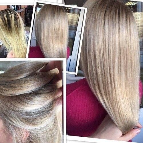 Как закрасить мелирование – правила исправления для темных и светлых волос