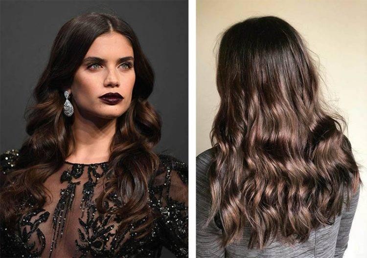 Холодный темный цвет волос. фото, краски, кому идёт, техники окрашивания