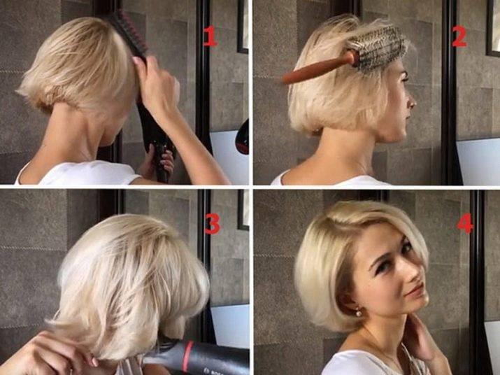 Безупречные укладки на короткие волосы в домашних условиях