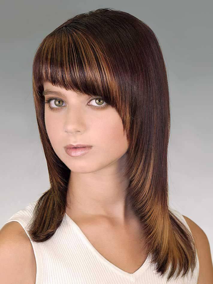 Женские стрижки на средние волосы с челкой: каскад, лесенка, боб, каре