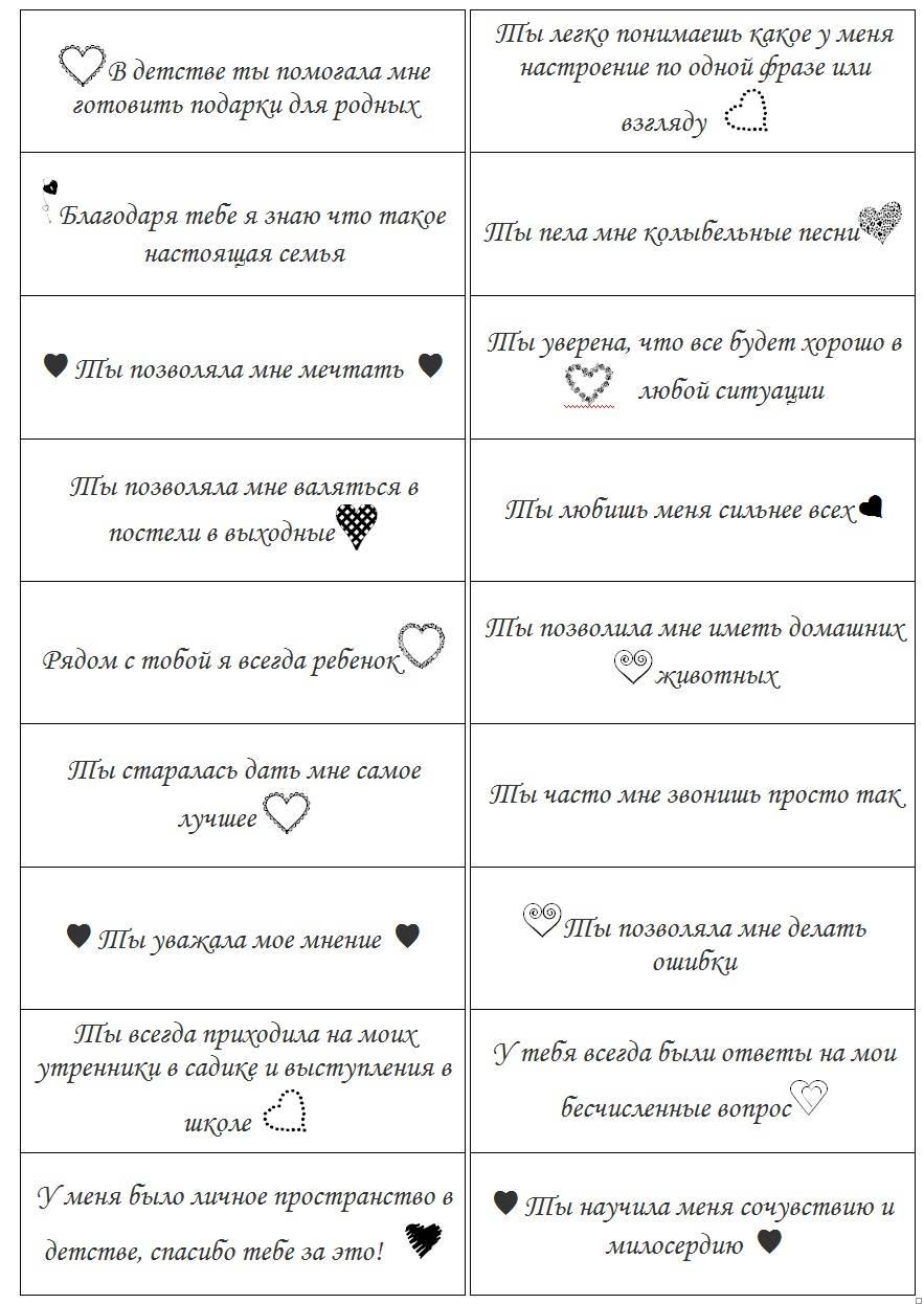 100 причин почему я тебя люблю: парню, мужу, любимому человеку