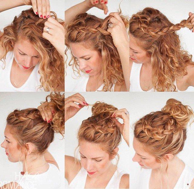 Сделай сама: топ-20 вечерних укладок на средние волосы