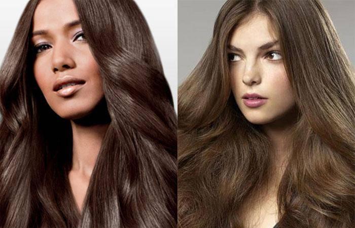 Каштановые волосы: палитра темных и светлых оттенков