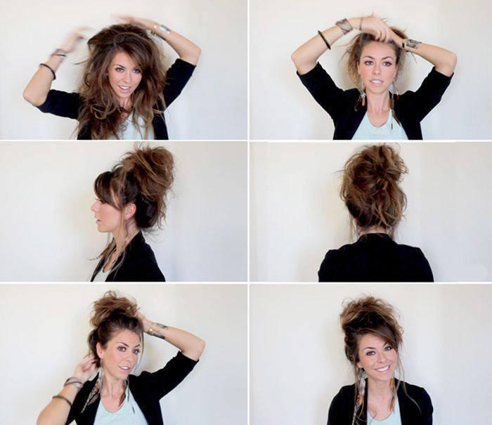 Как заплести бублик на длинные волосы. делаем красивый пучок с бубликом своими руками