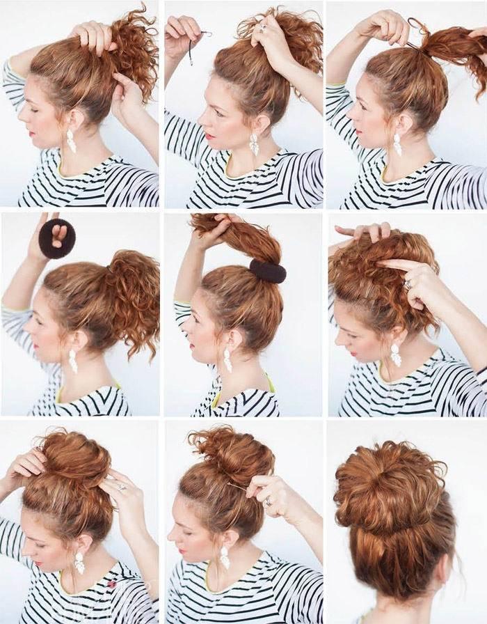 Как сделать пучок на длинные волосы своими руками: 3 секрета успеха