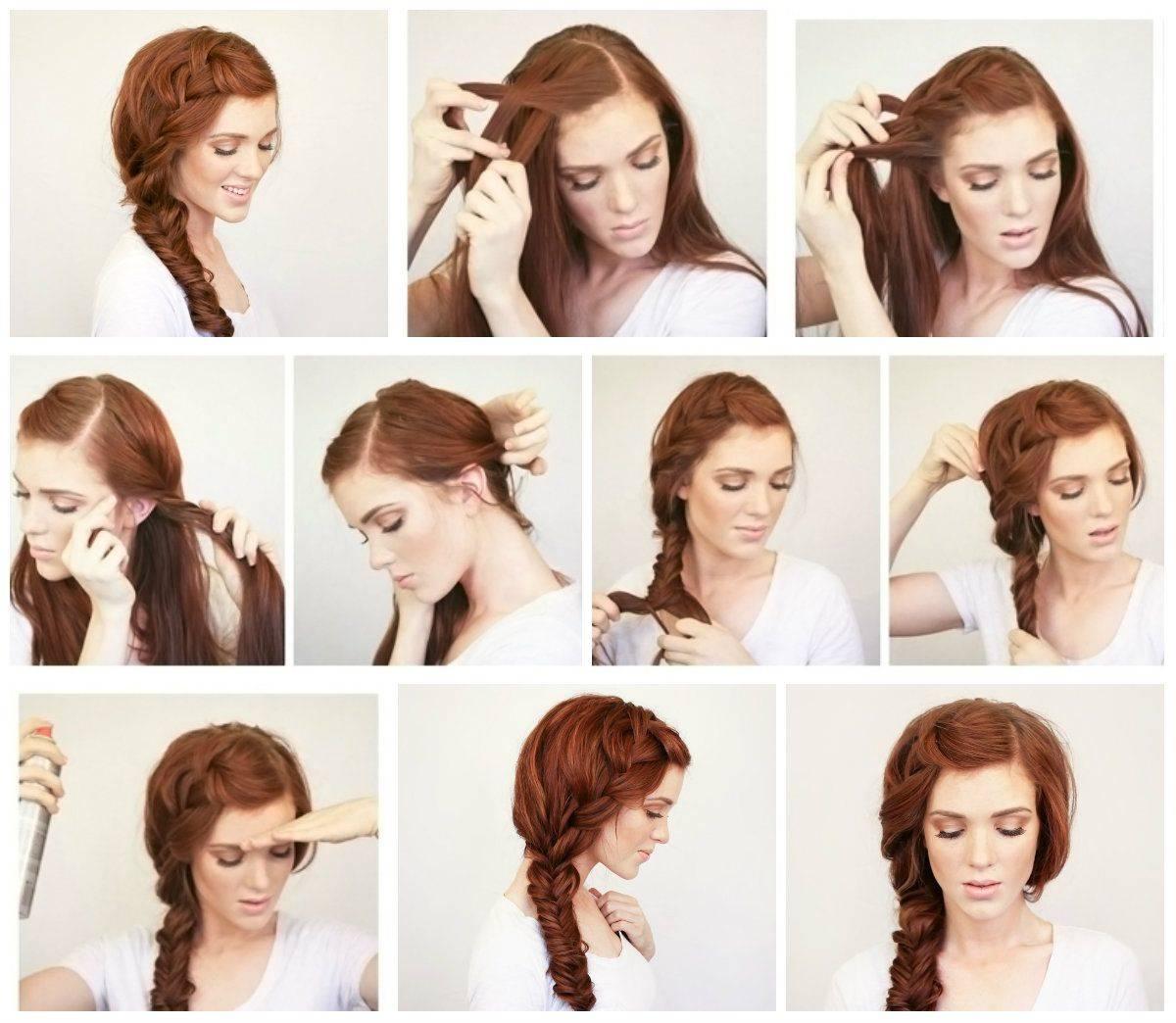 Быстрые прически на средние волосы: топ-7 укладок за 5 минут
