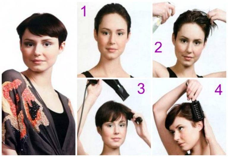 Как самостоятельно сделать укладку на короткие волосы