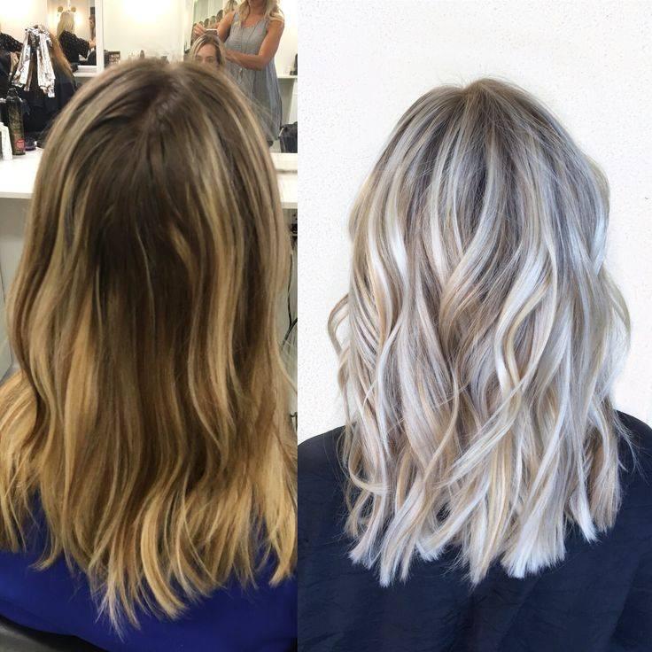 Мелкое мелирование на русые волосы, темно, светло русые. фото, инструкция окрашивания