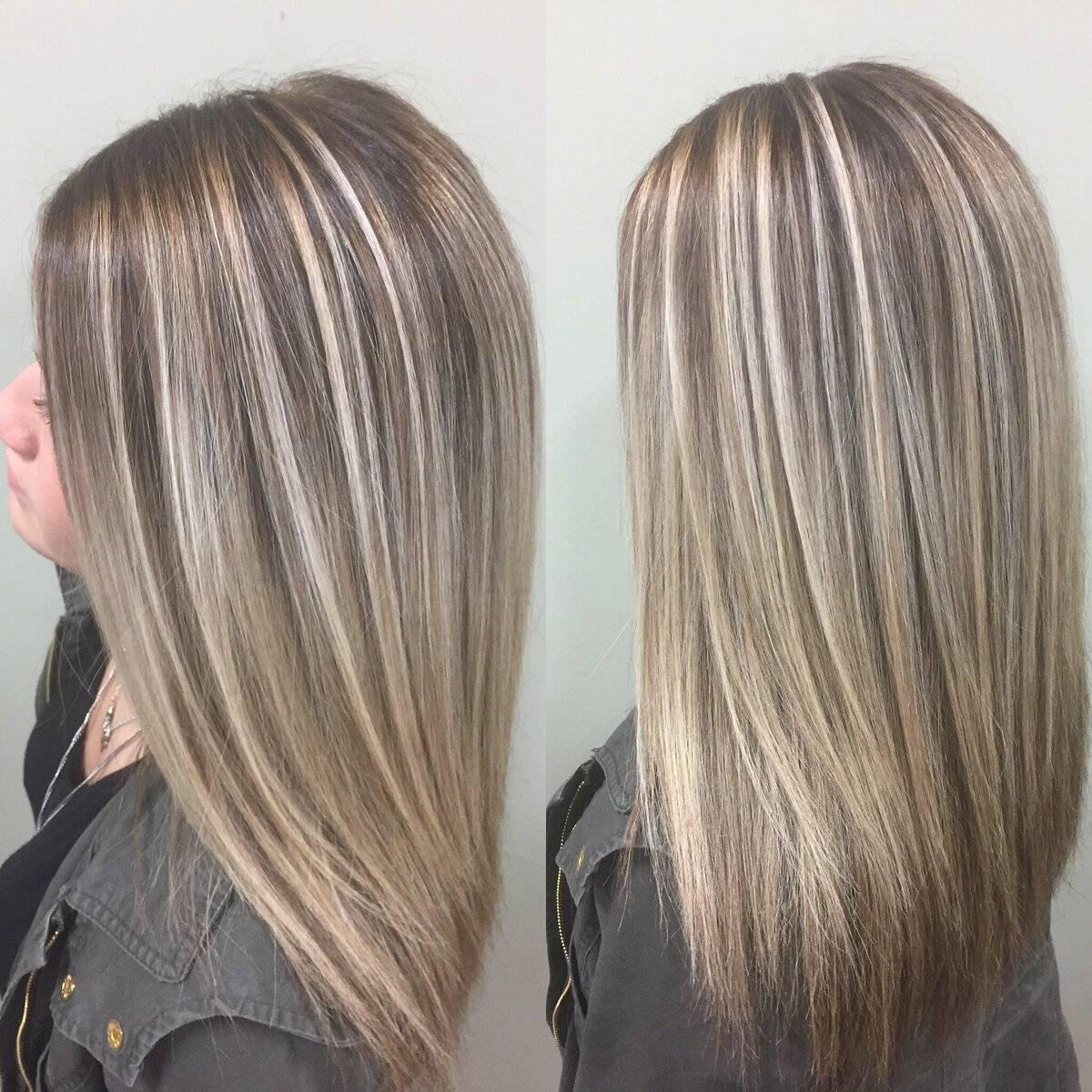 Мелирование на русые волосы - виды, фото