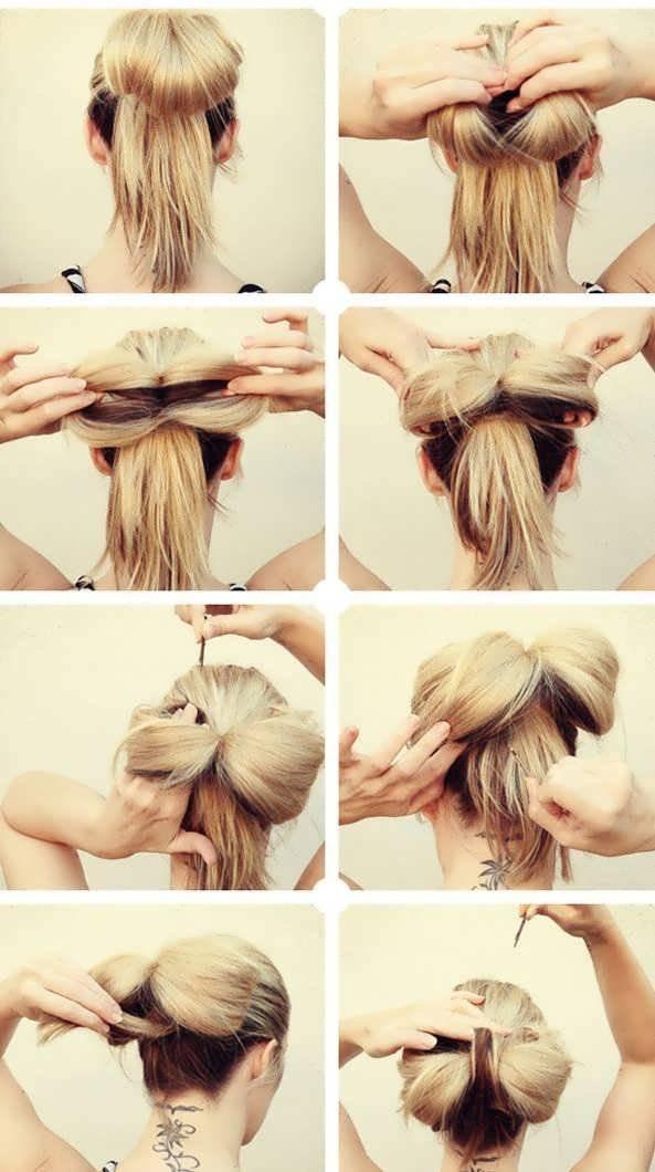 Как сделать бант из волос: самые интересные варианты, которые можно воплотить в домашних условиях