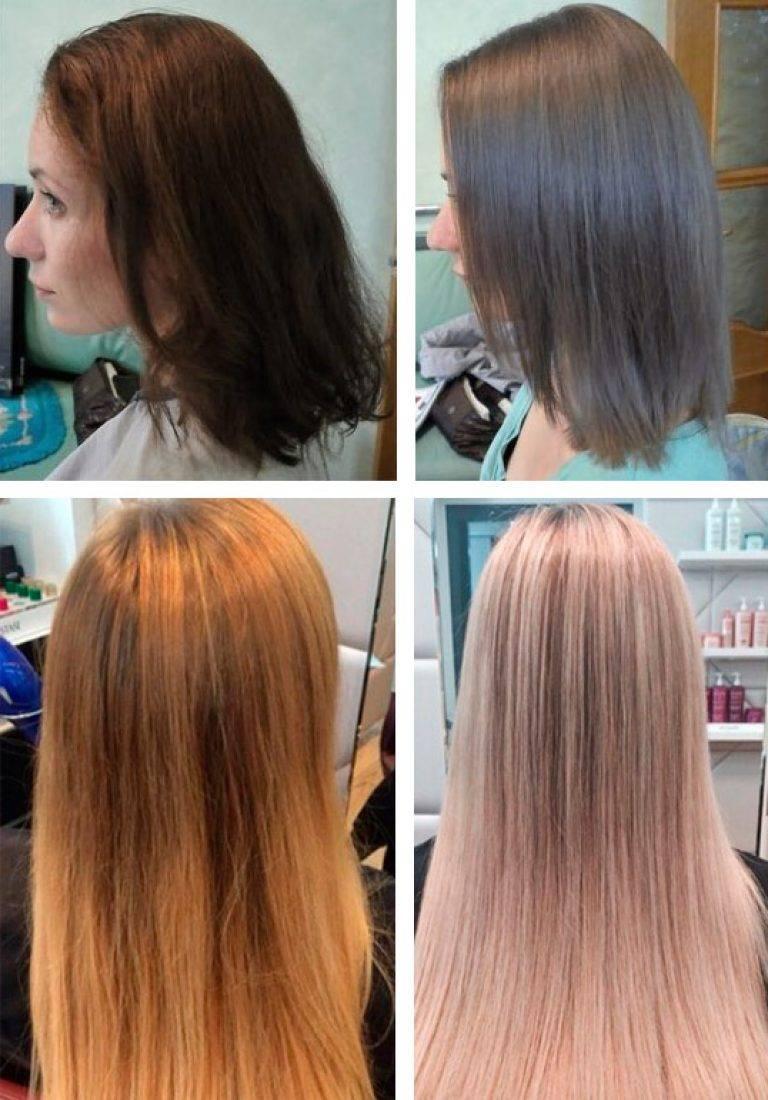 Средне-русый цвет волос. фото до и после окрашивания, краски для мелирования, палитра