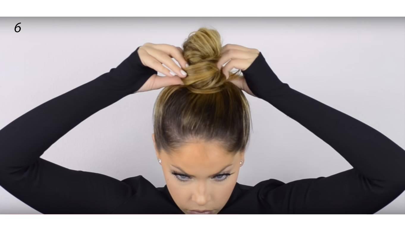 Как сделать пучок на голове пошагово? как сделать модный пучок на голове с помощью бублика и без него? как сделать красивый объемный пучок на голове?