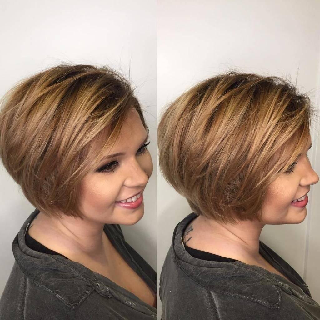 Стрижки на короткие волосы для полного лица