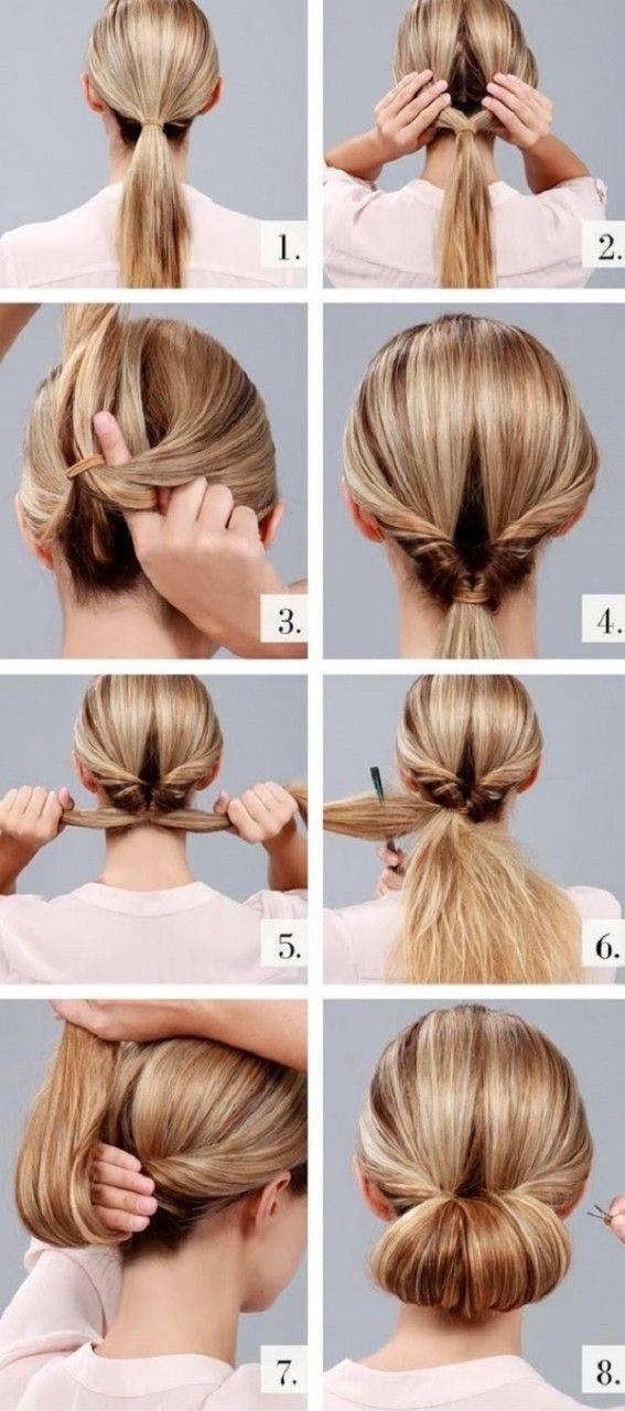 Как сделать причёску в школу на каждый день самой себе за 5 минут — 20 инструкций с фото и видео на средние и короткие волосы