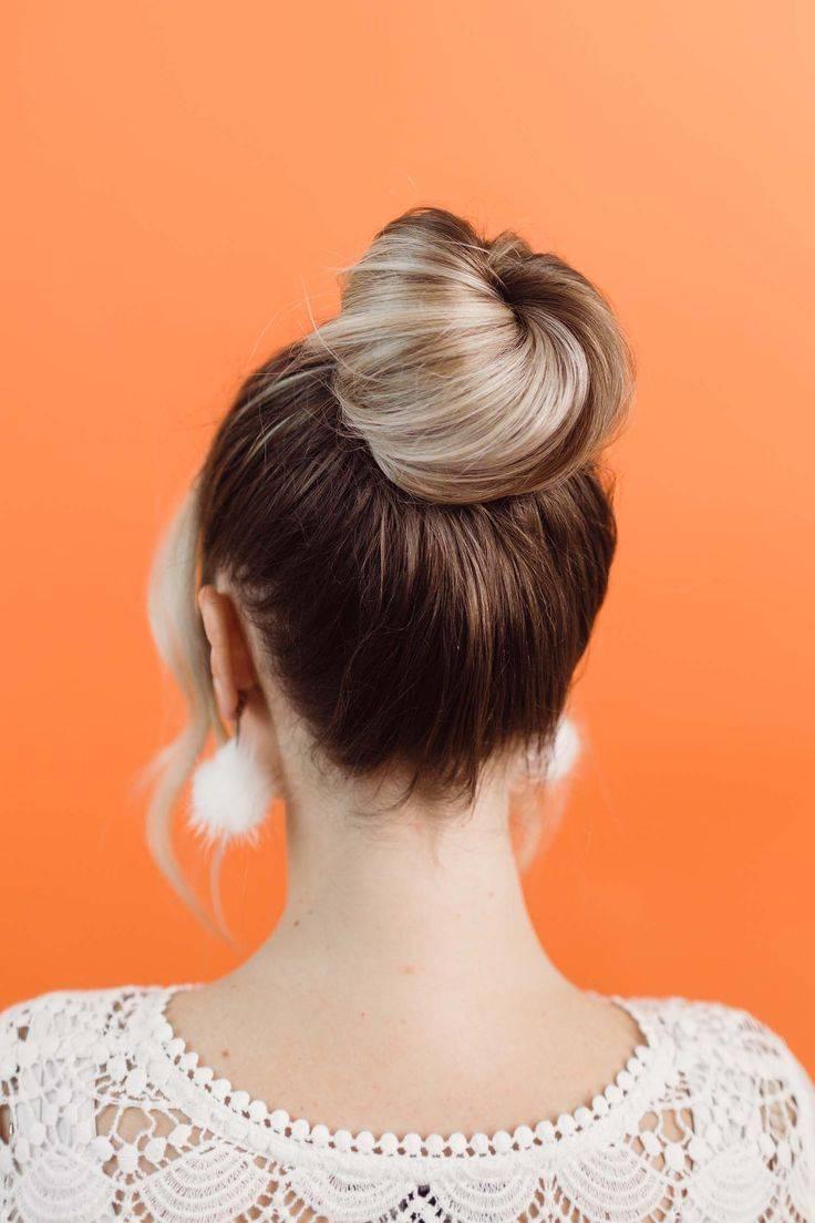 Как сделать небрежный пучок на средние и длинные волосы: современный, высокий, низкий, объемный. пошаговая инструкция, фото