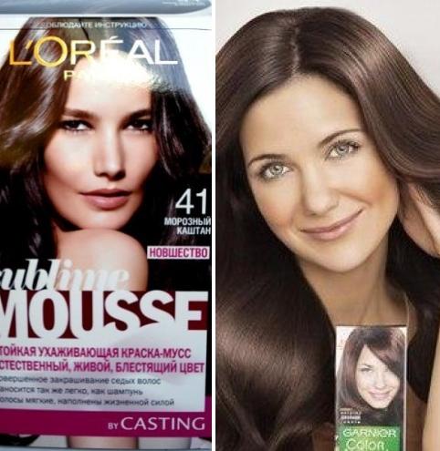 Медно-каштановый цвет волос. фото, кому подходит, краски, техники