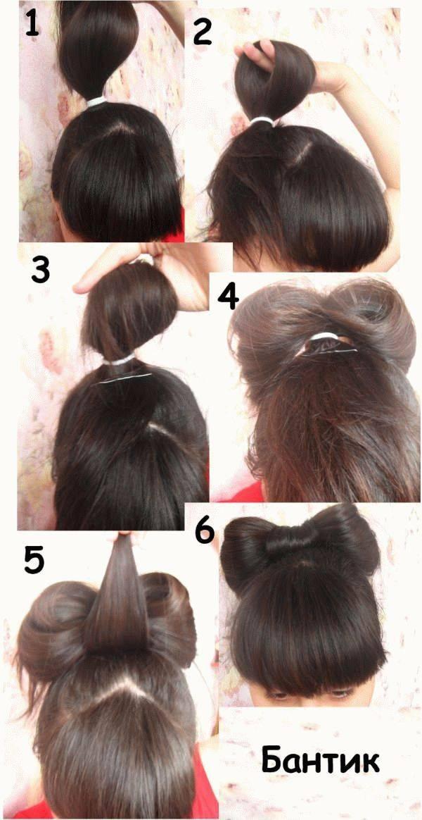 Как сделать бант из волос - пошаговая инструкция