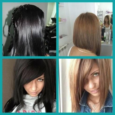 Как выйти из черного цвета волос с помощью смывки и обесцвечивания
