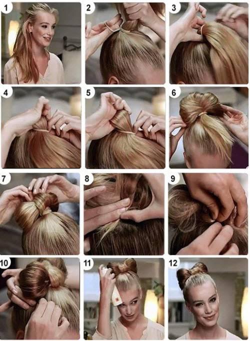 Как сделать бант из волос своими руками с видео