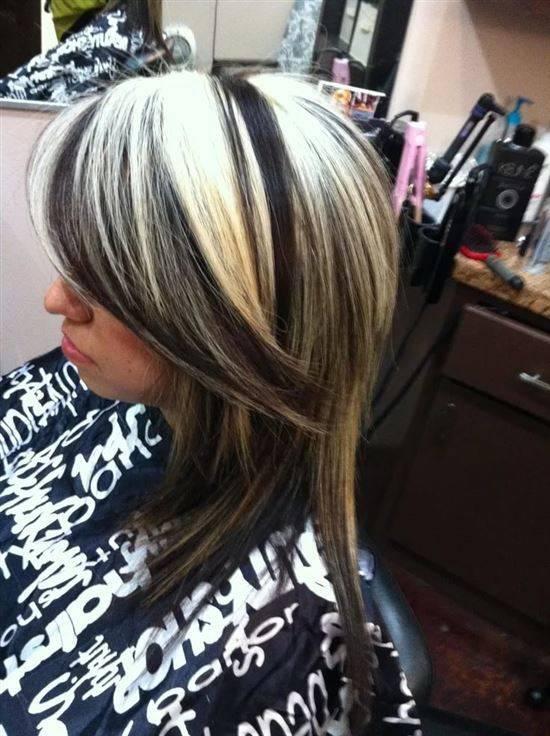 Покраска волос в два цвета с фото-подборкой и объяснением, какие бывают техники