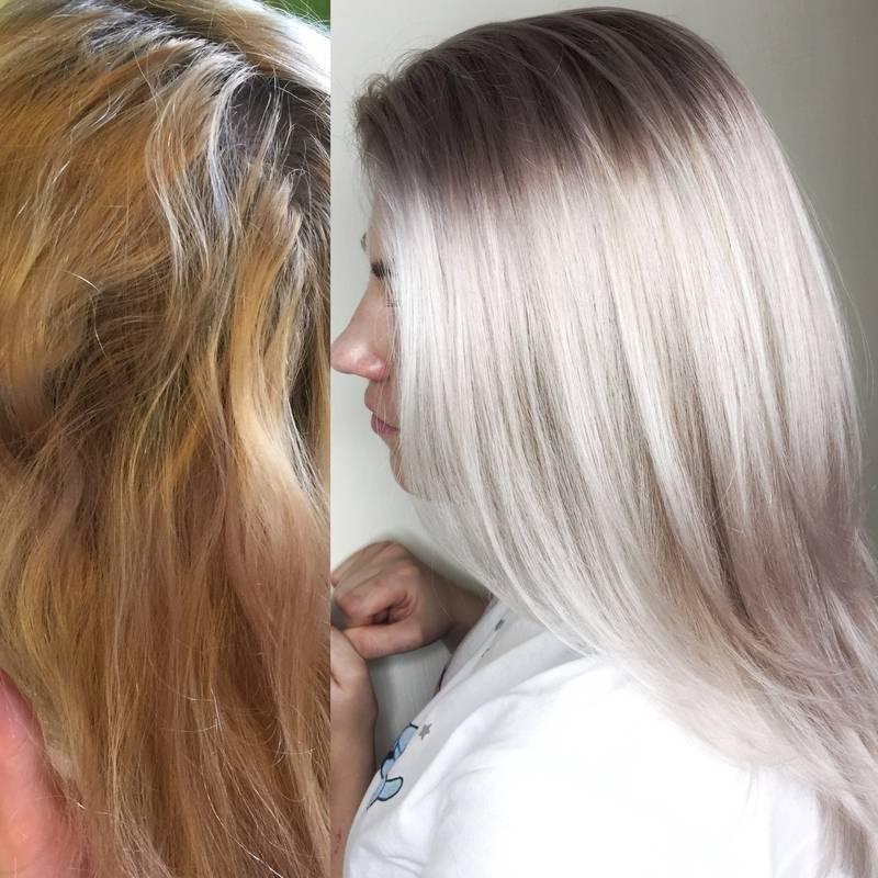Как выйти из черного цвета волос в светлый