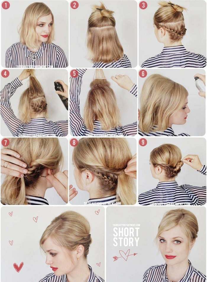 Быстрые прически на короткие волосы своими руками — пошаговые фото